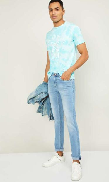 LEE COOPER Men Washed Skinny Fit Jeans