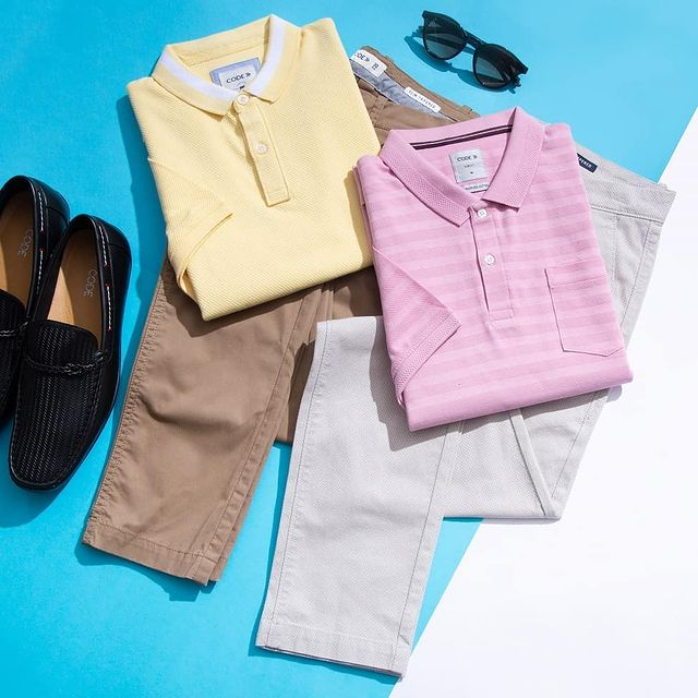 Polos and chinos make a great pair