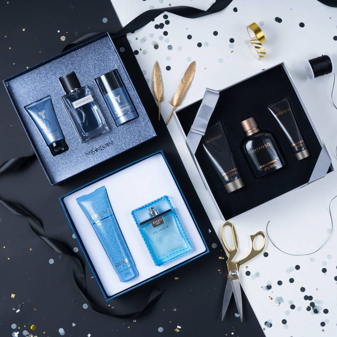perfume collection by Versace, Intenso & Yves Saint Laurent.