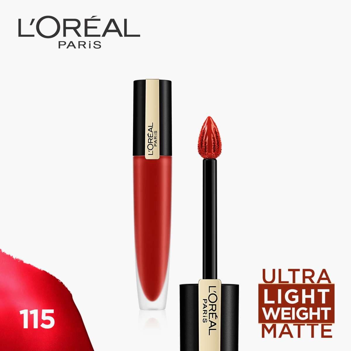 1.L'Oreal Paris Rouge Signature Matte Liquid Lipstick