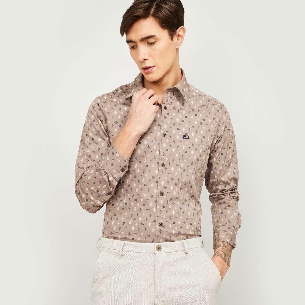 10.ARROW SPORTS Men Printed Full Sleeves Slim Fit Casual Shirt