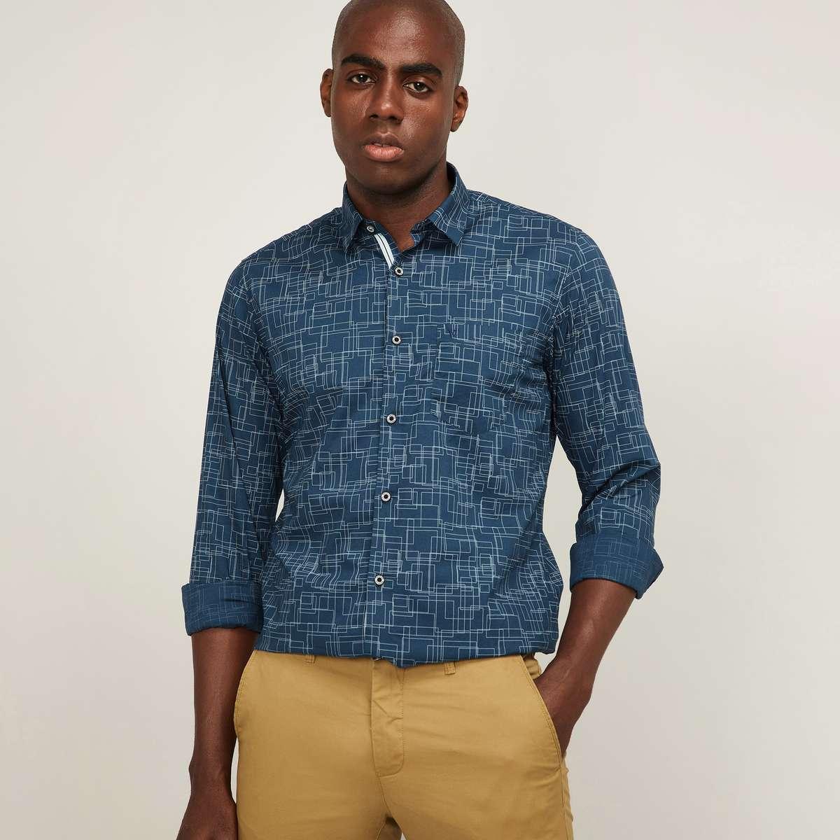 11.VH SPORTS Men Full Sleeves Printed Casual Shirt