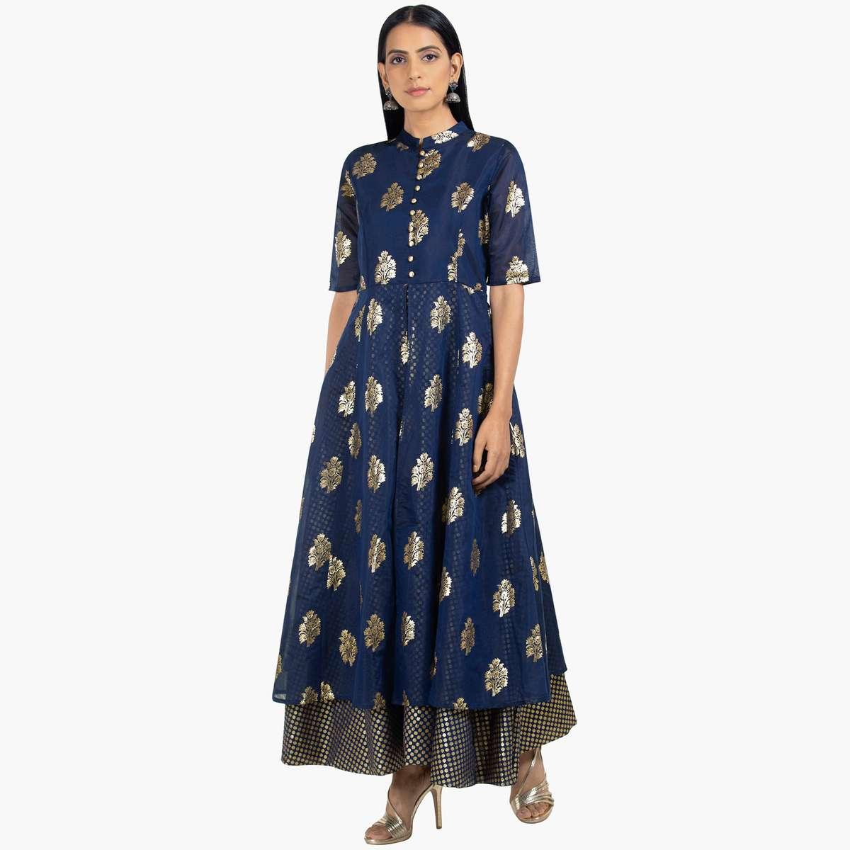 2.INDYA Women Printed Maxi Tunic
