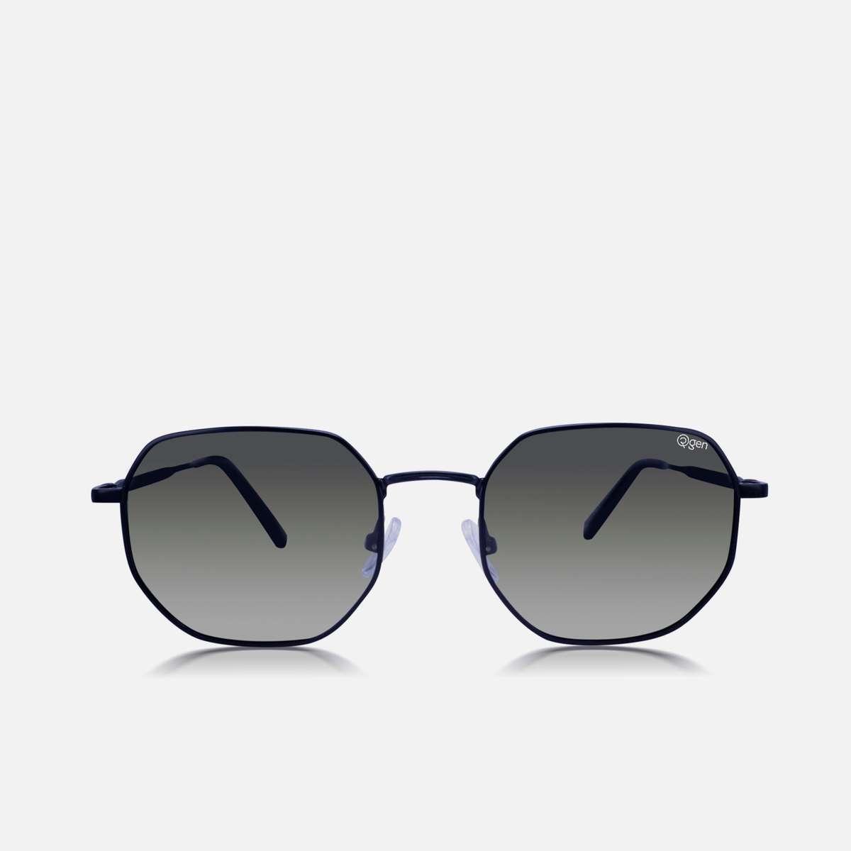 2.O2GEN Men Solid Polarized Geometric Sunglasses- O2-21-007-C3-P