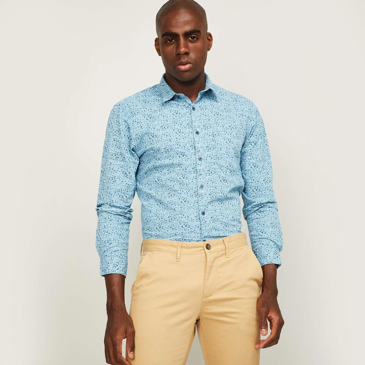 5.CODE Women Floral Print Slim Fit Casual Shirt