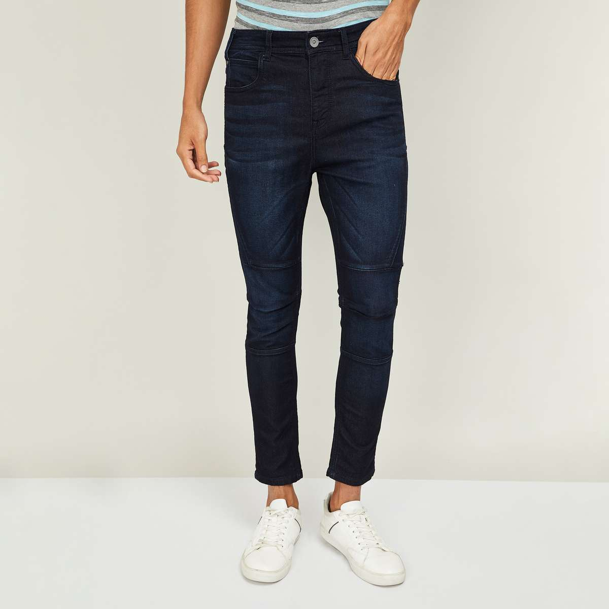 6.FORCA Men Stonewashed Skinny Fit Jeans