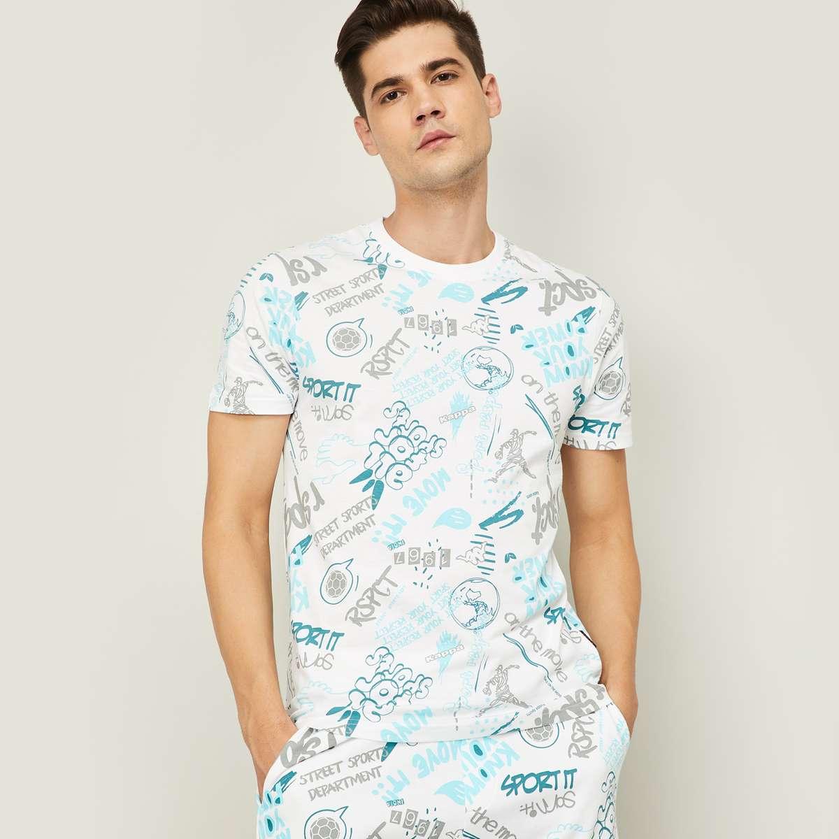 9.KAPPA Men Printed Crew Neck T-shirt