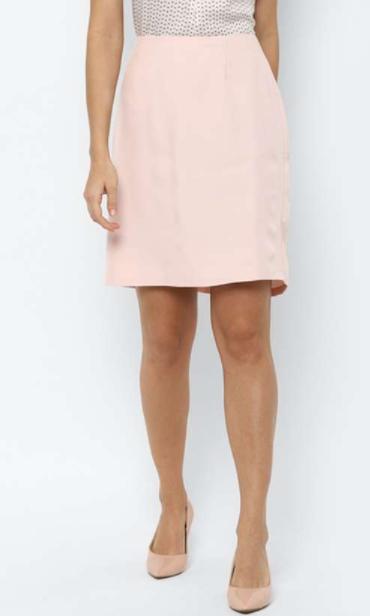 ALLEN SOLLY Women Solid A-Line Formal Skirt - types of bottom wear for women