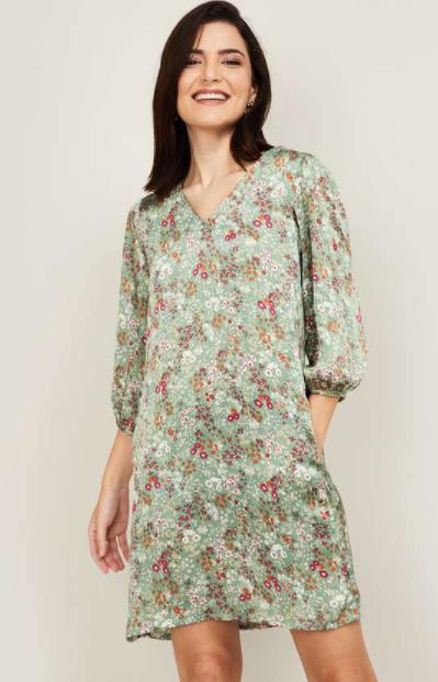 AND Women Floral Print Shift Dress - Best Ethnic Wear Brands