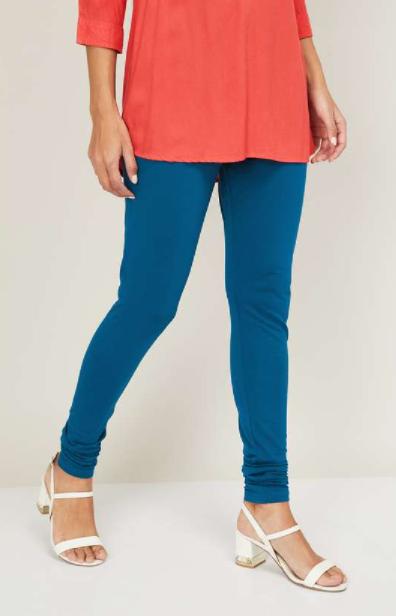 BIBA Women Solid Elasticated Leggings - types of bottom wear for women