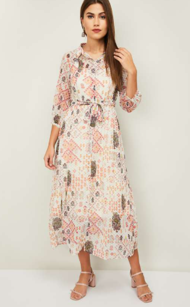 COLOR ME Raga Women Printed A-Line Dress - Best ethnic wear brands