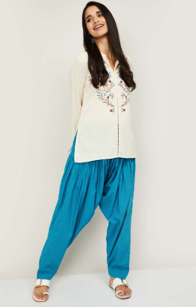 DE MOZA Women Solid Salwar - types of bottom wear for women