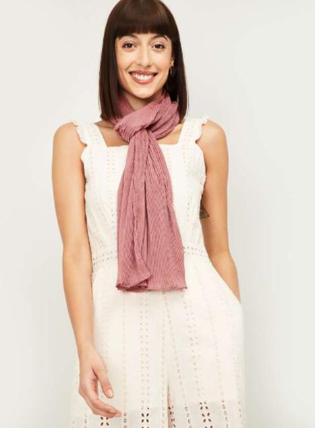 GINGER Women Textured Stole - Best Ethnic Wear Brands