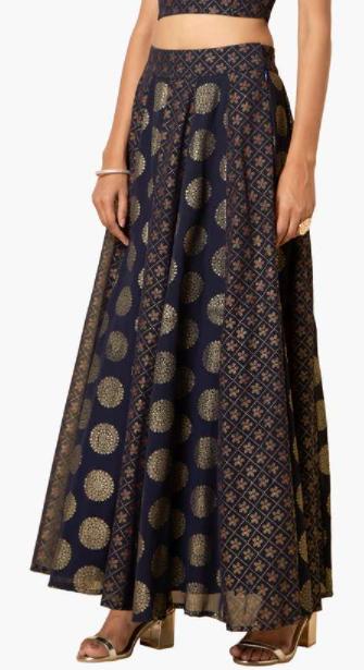 INDYA Women Printed Woven Ethnic A-Line Skirt -Best ethnic wear brands