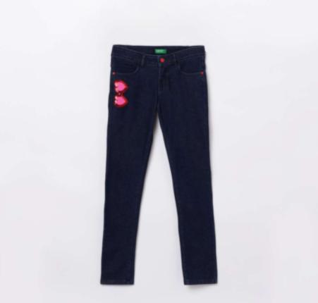 UNITED COLORS OF BENETTON Girls Embellished Regular Fit Jeans