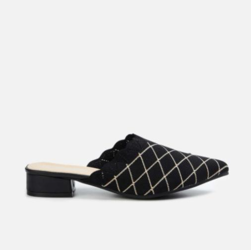 GINGER Women Patterned Block Heel Mules