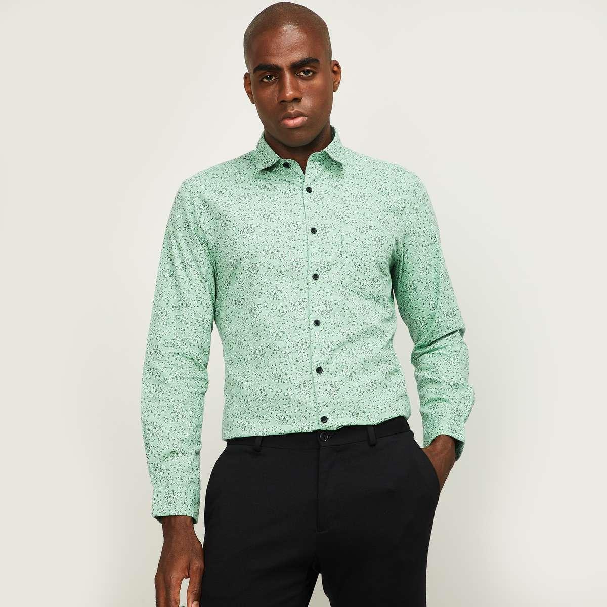 1.CODE Women Floral Print Slim Fit Casual Shirt