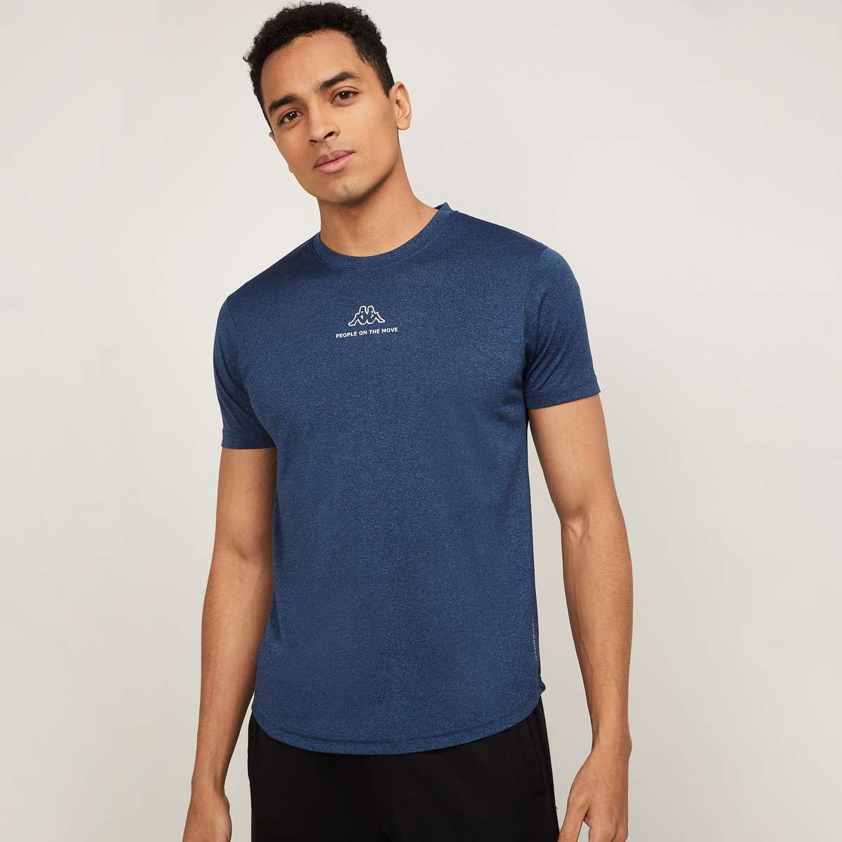 1.KAPPA Men Printed Regular Fit Sports T-shirt