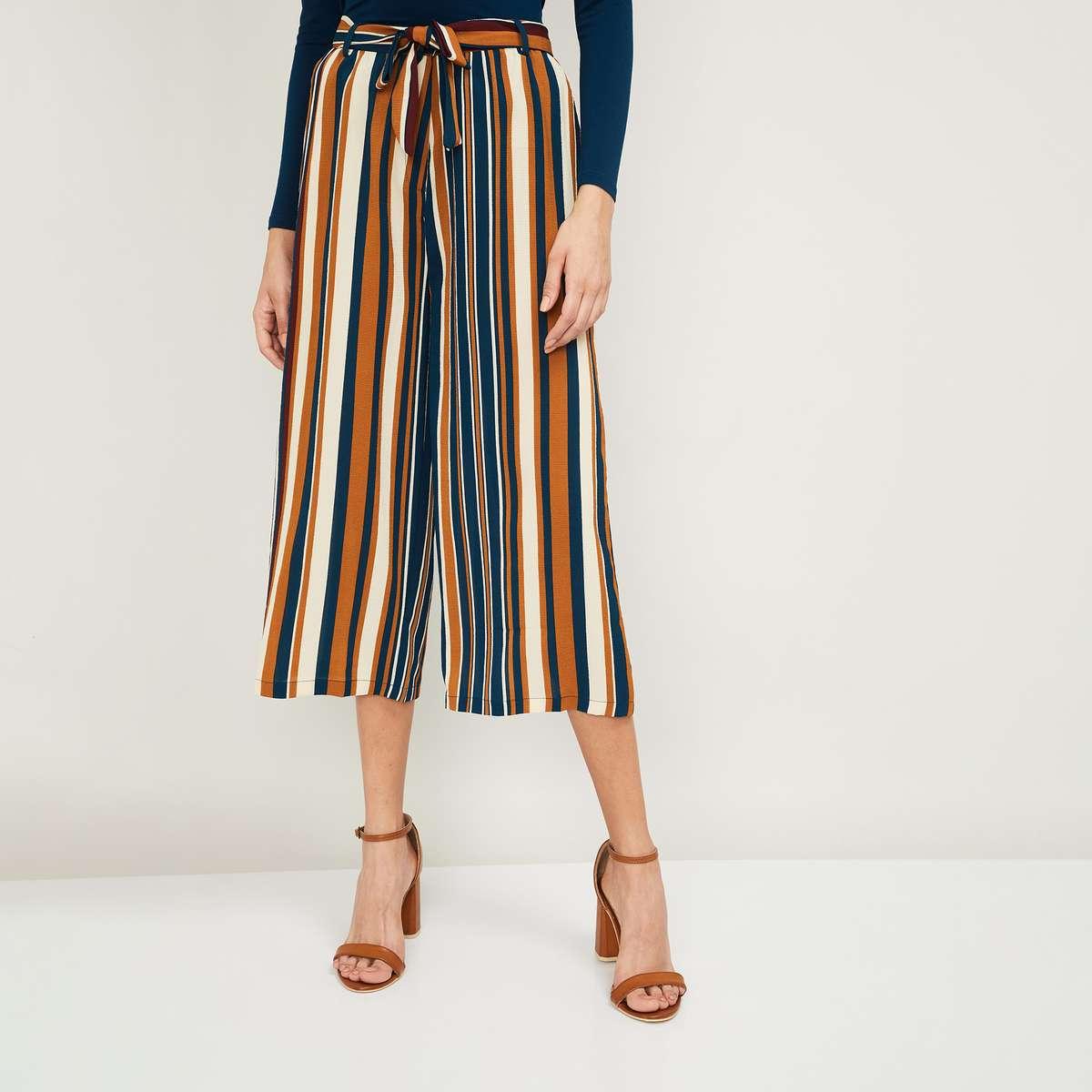 2.BOSSINI Women Striped Culottes