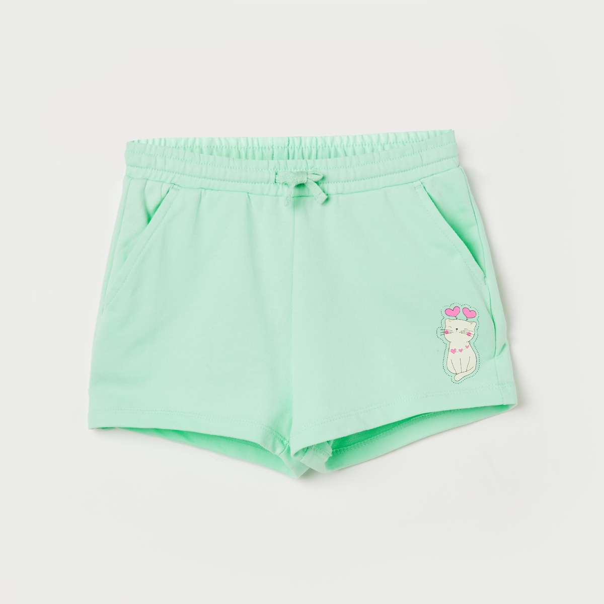 2.FAME FOREVER KIDS Girls Printed Elasticated Shorts
