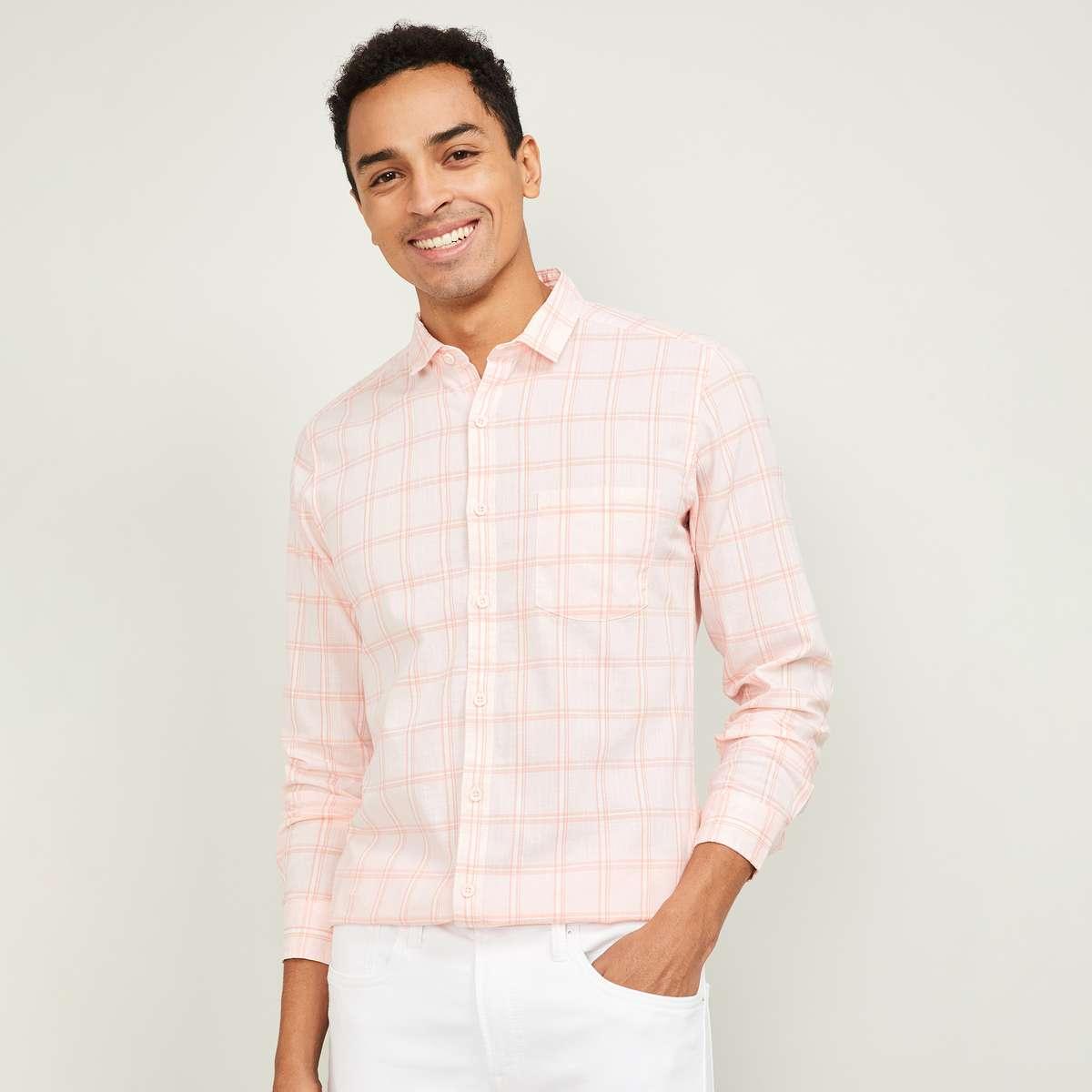 2.FAME FOREVER Men Checked Full Sleeves Slim Fit Casual Shirt