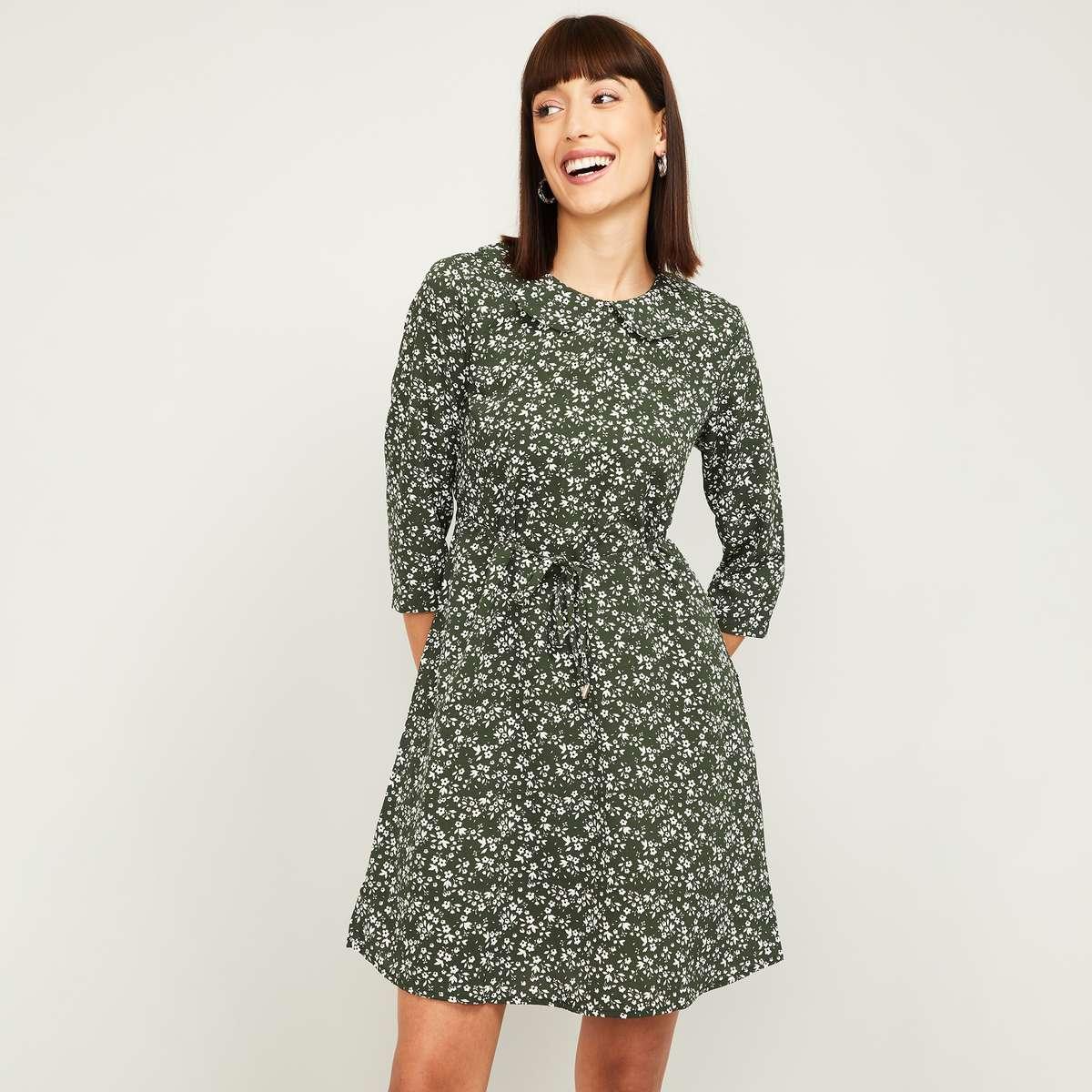 2.FAME FOREVER Women Floral Print A-Line Dress