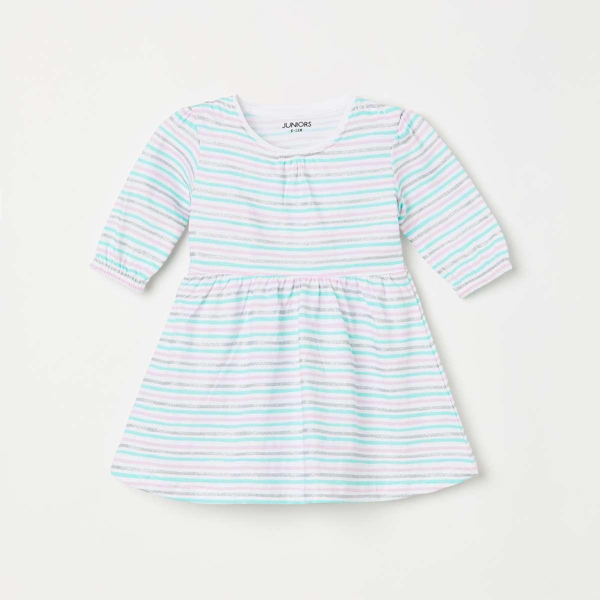 2.JUNIORS Girls Striped A-Line Dress