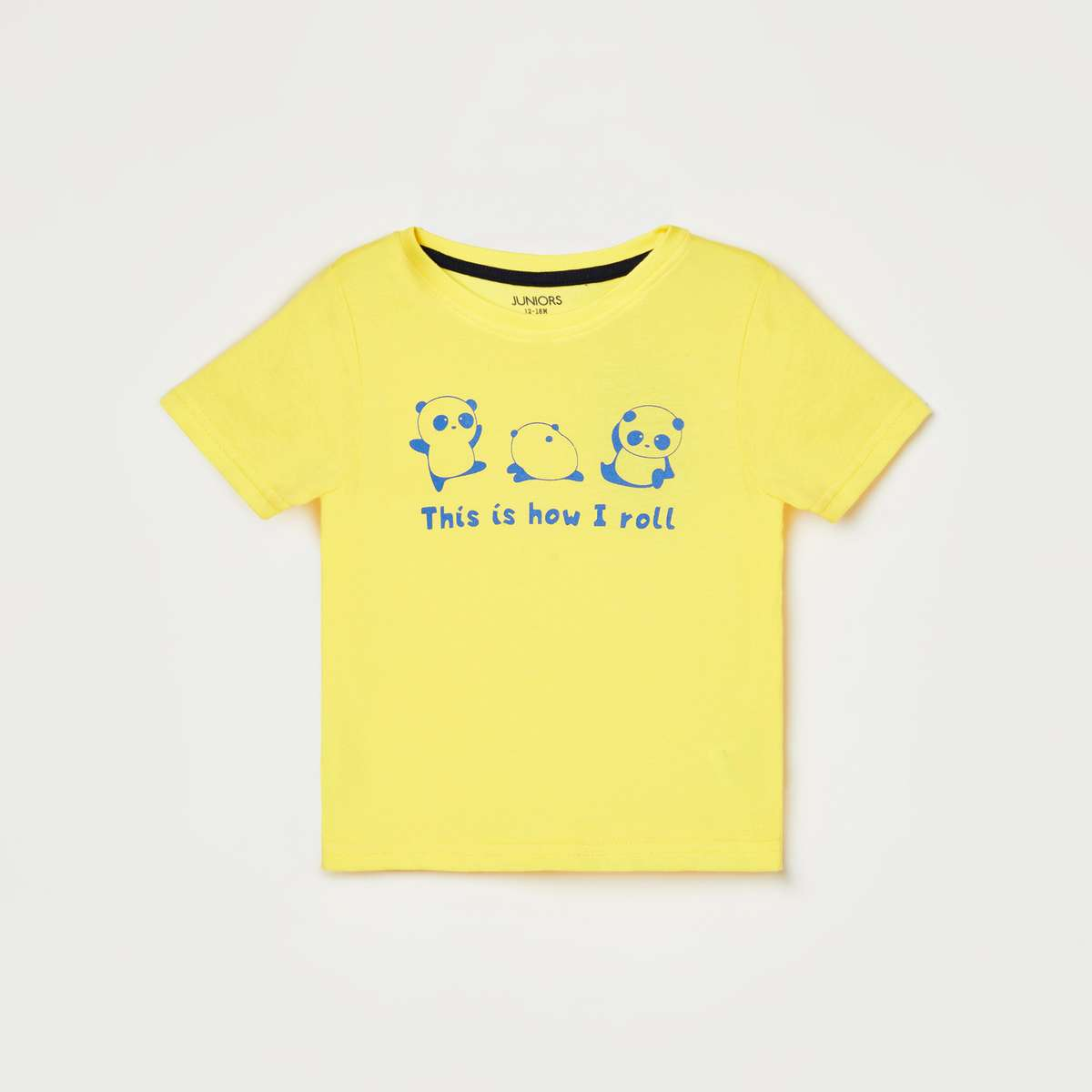3.JUNIORS Boys Typographic Print Round Neck T-shirt