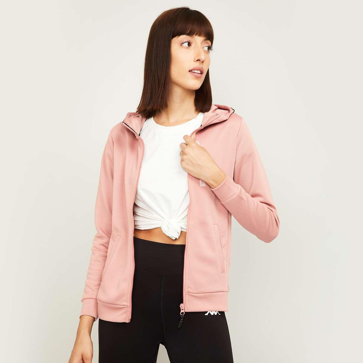 3.KAPPA Women Hooded Sports Jacket