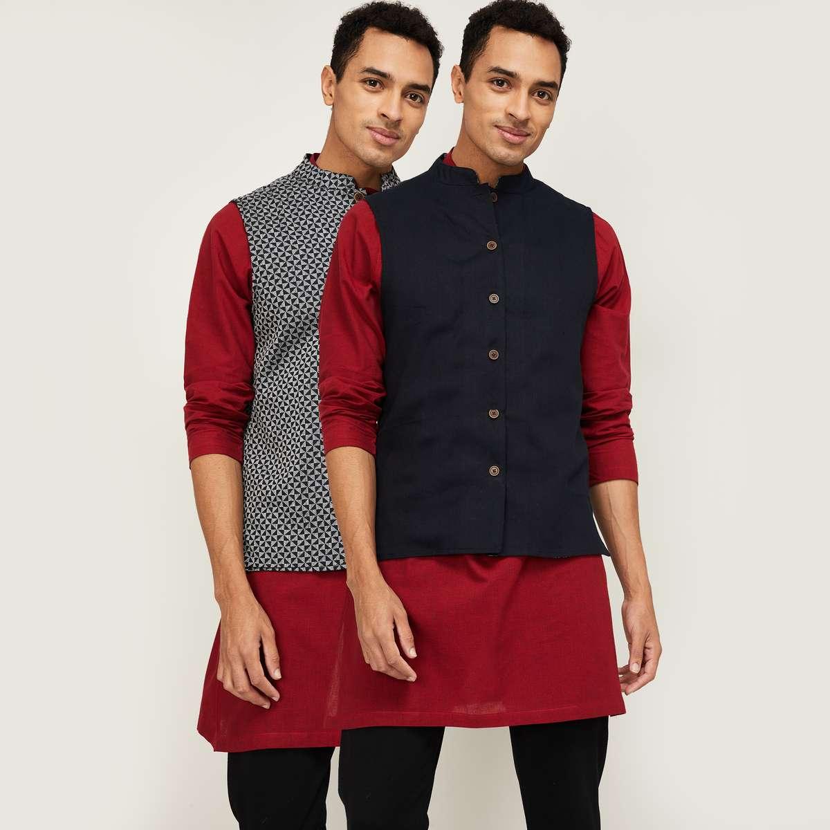 3.MELANGE Men Regular Fit Nehru Jacket - Set of 2