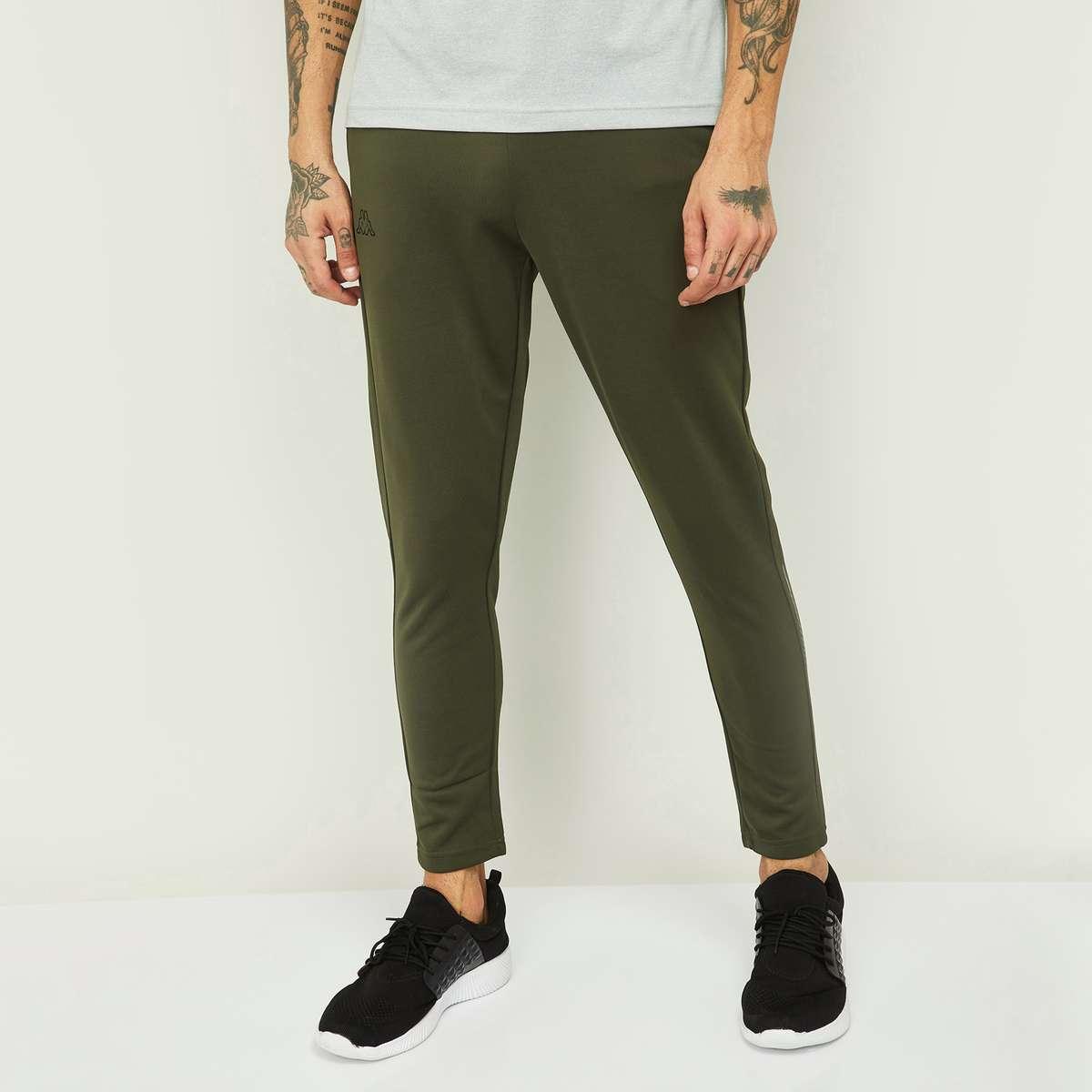 5.KAPPA Men Solid Slim Fit Track Pants