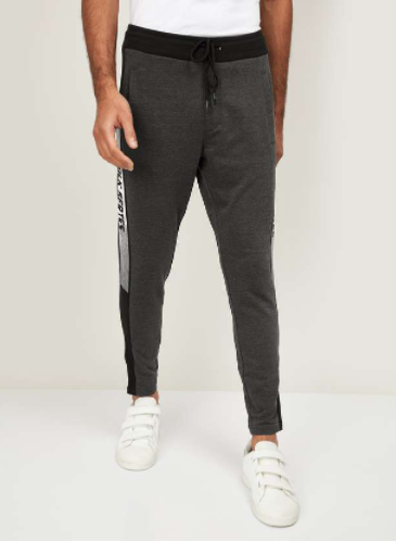 BOSSINI Men Printed Slim Fit Elasticated Track Pants - Bossini by Lifestyle