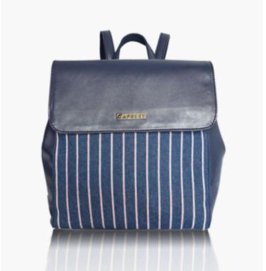 CAPRESE Women Striped Zip-Closure Backpack - Caprese by Lifestyle