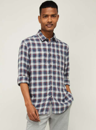 CODE Men Checked Regular Fit Casual Shirt - Code by Lifestyle