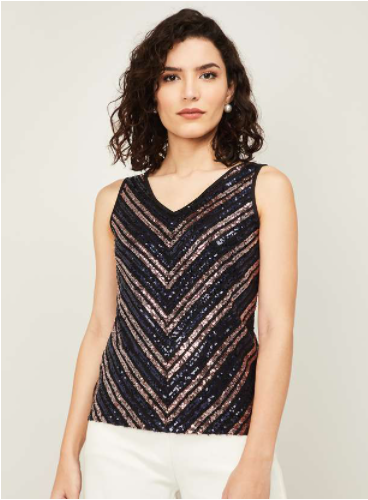 CODE Women Embellished Sleeveless Top - Code by Lifestyle
