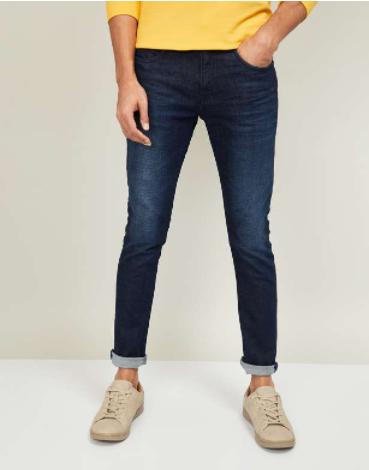 FAME FOREVER Men Dark Washed Skinny Jeans - Fame Forever by Lifestyle