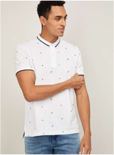 FAME FOREVER Men Printed Polo T-shirt - Fame Forever by Lifestyle