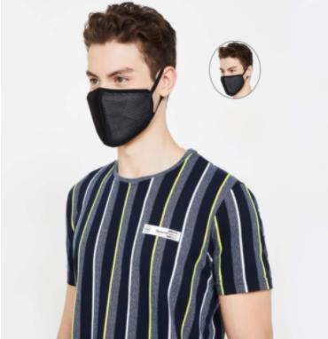 FAME FOREVER Men Solid Reusable Masks - Pack of 2 Pcs. - Fame Forever by Lifestyle
