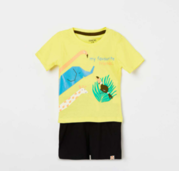 JUNIORS Boys Printed T-shirt and Elasticated Shorts - Junior by Lifestyle