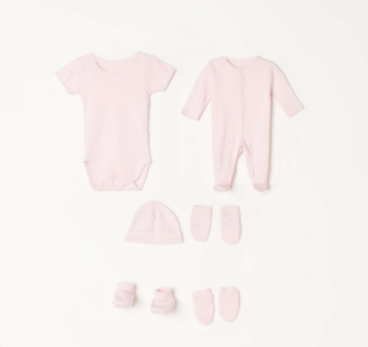 JUNIORS Girls Solid Romper Gift Set - Pack of 8 - Junior by Lifestyle