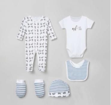JUNIORS Printed Infant Basics - Set of 5 - Juniors by Lifestyle