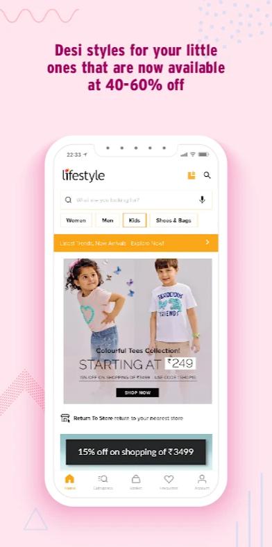 Footwear & Bags on Lifestyle App