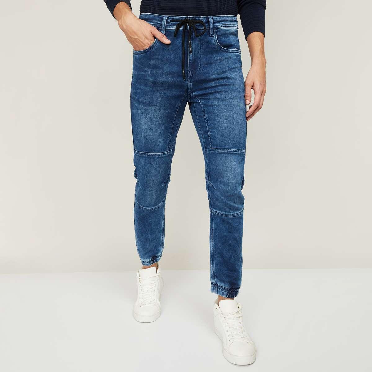 1.FORCA Men Stonewashed Jogger Jeans