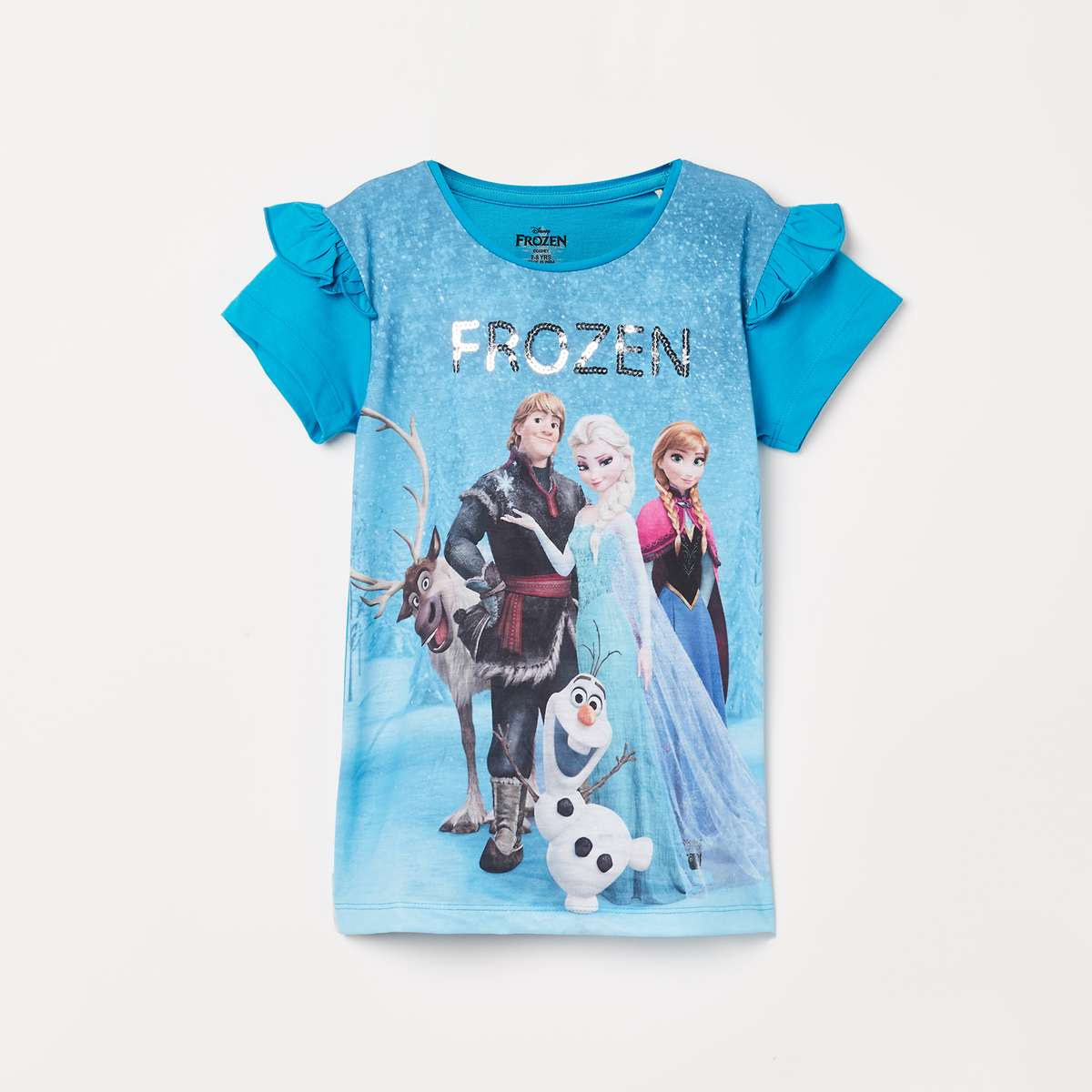 1.KIDSVILLE Girls Frozen Printed Top