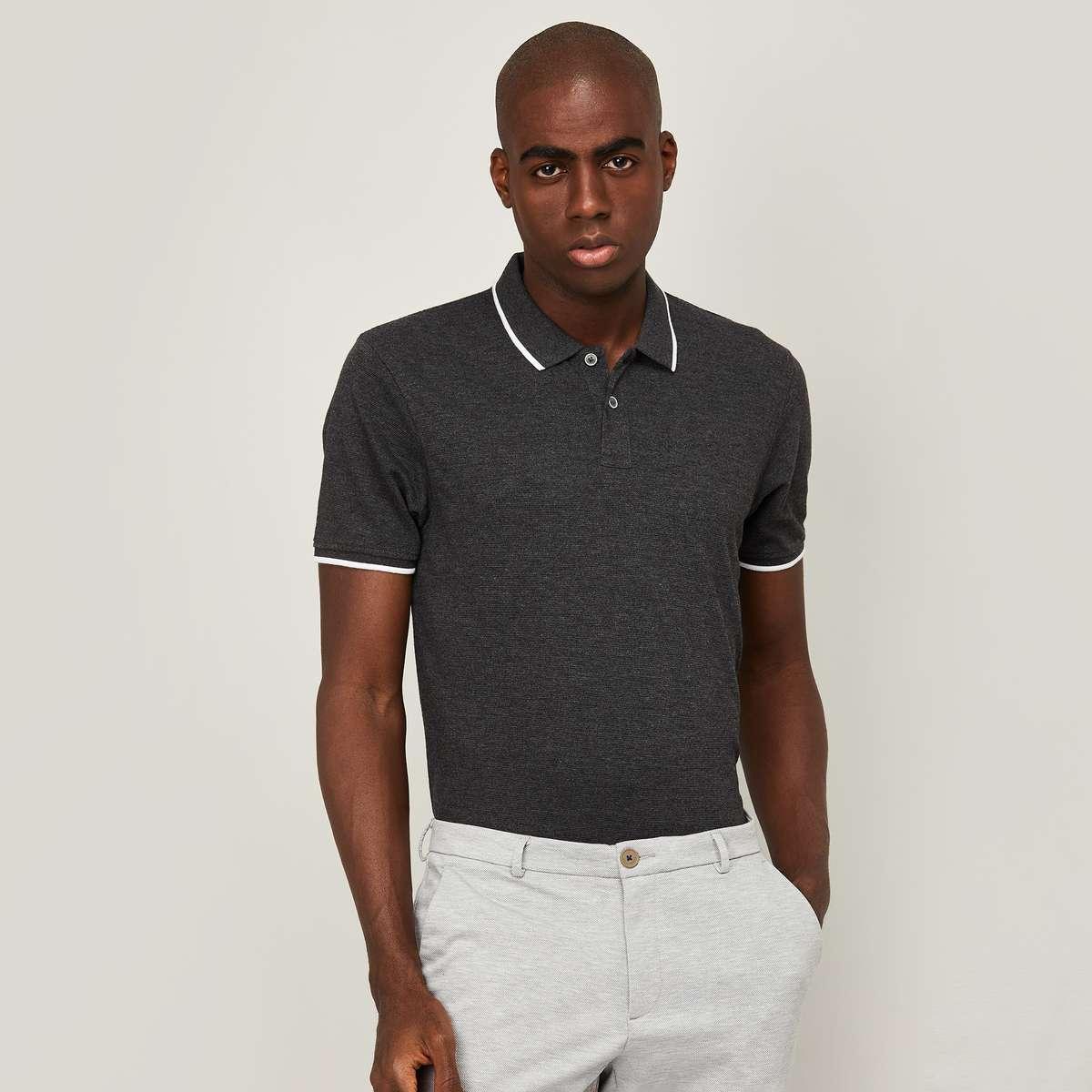 2.CODE Men Solid Regula Fit Polo T-shirt