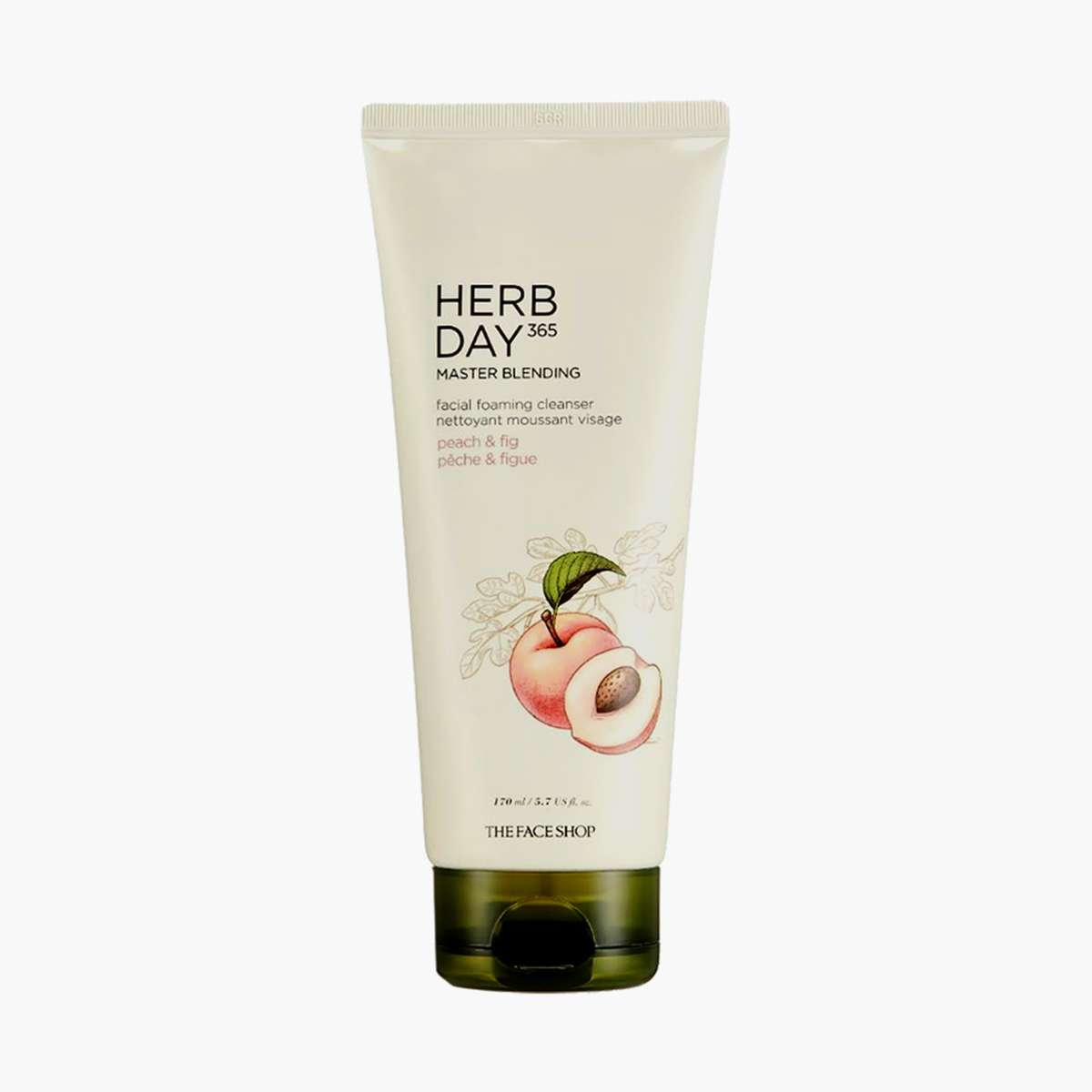 THE FACE SHOP Master Blending Foaming Cleanser- Peach And Figue