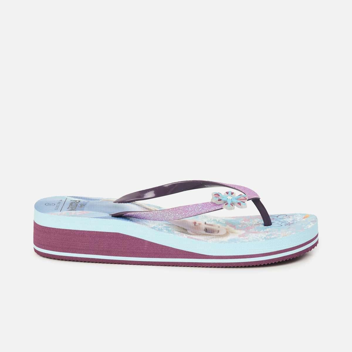 3.FAME FOREVER Girls Printed Flip Flops