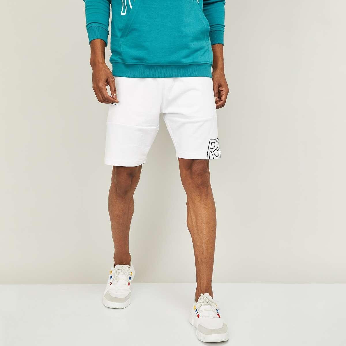 3.KAPPA Men Printed Elasticated Shorts