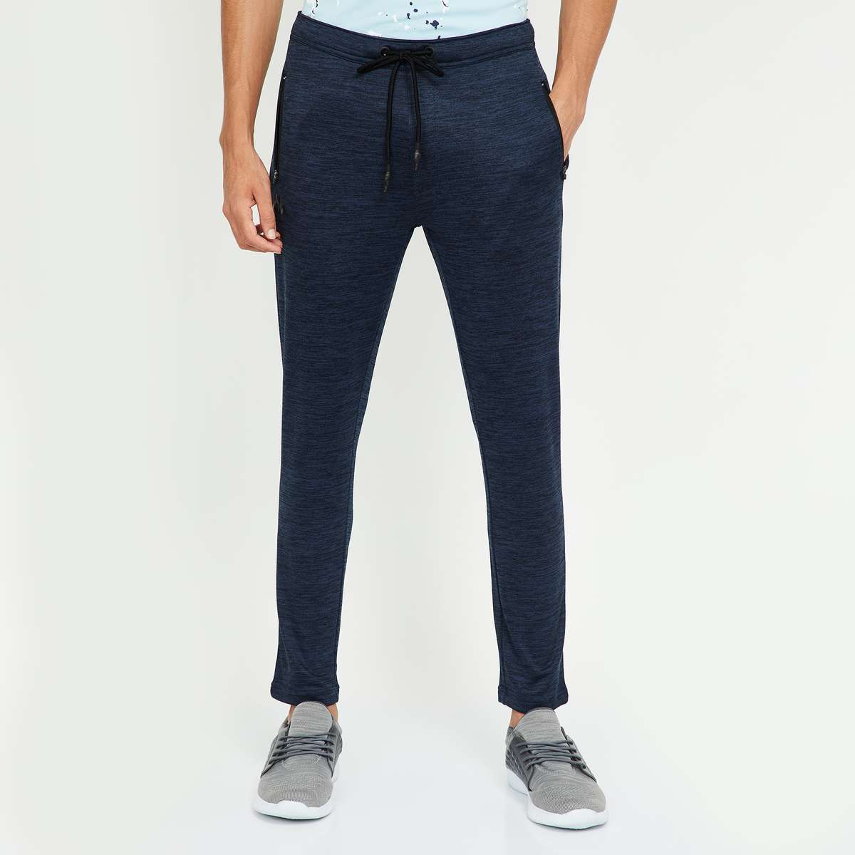 3.KAPPA Solid Slim Fit Track Pants