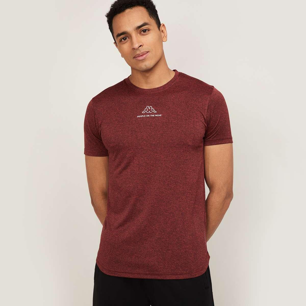 6.KAPPA Men Printed Regular Fit Sports T-shirt